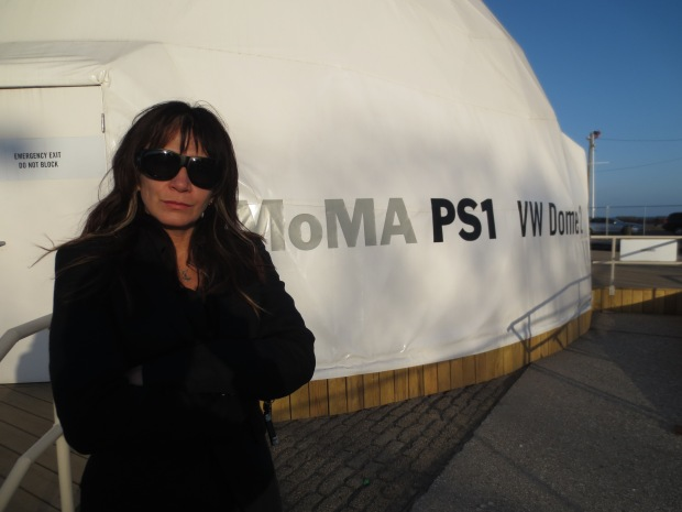 Filmmaker Katrina del Mar at the MoMA PS1 VW Dome 2 in Rockaway